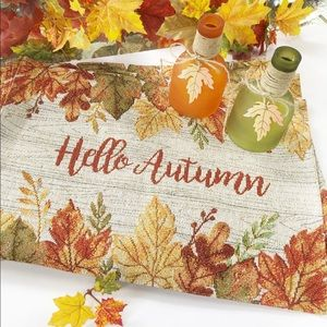 Other - Hello Autumn Set of 4 Tapestry Placemats